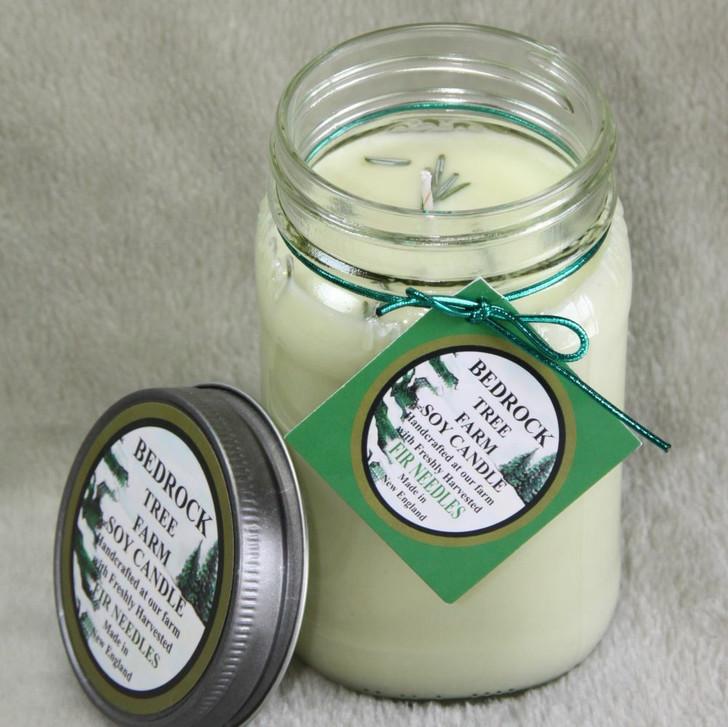 Bedrock Tree Farm 16 oz Fir Needle Scented Christmas Candle MJ16NAT