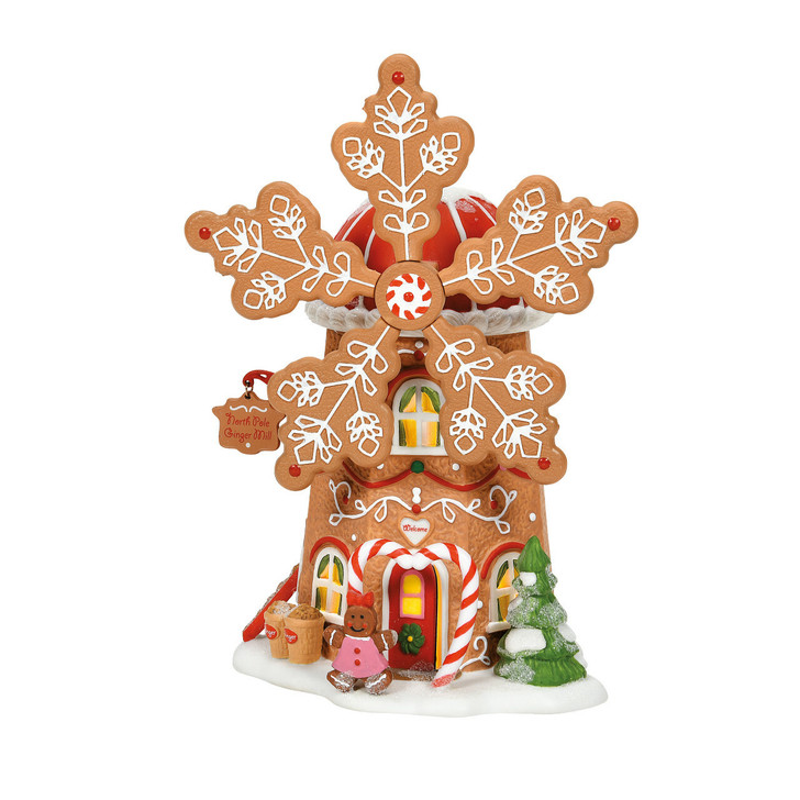 Department 56 North Pole Village Gingerbread Cookie Mill Building 6007610