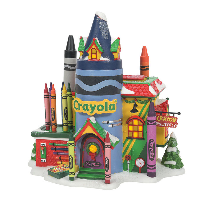 Department 56 North Pole Village Crayola Crayon Factory Building 6007613