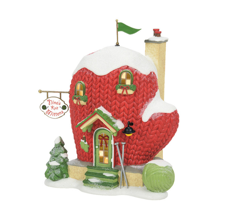 Department 56 North Pole Village Nina's Knit Mittens Building 6007615