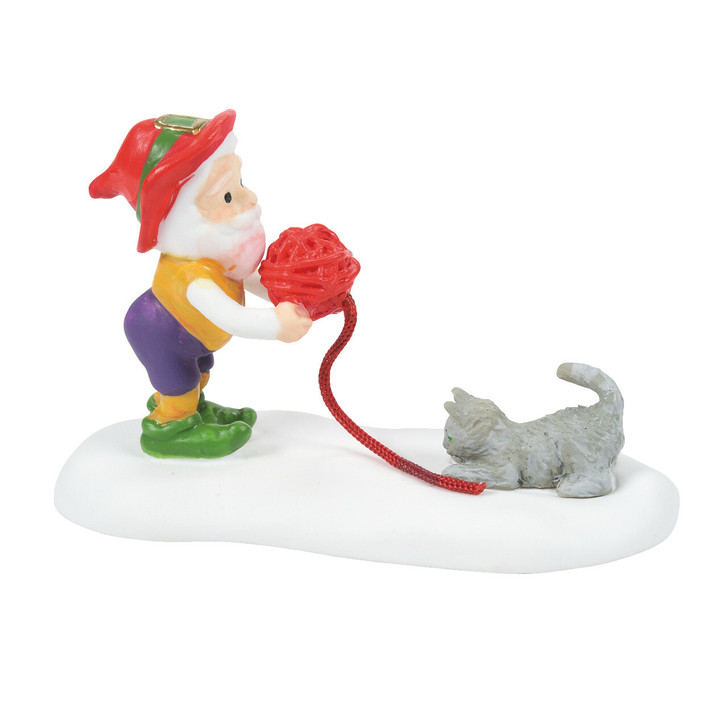 Department 56 North Pole Village  Kitten Tested For Best Mittens Figure 6007616