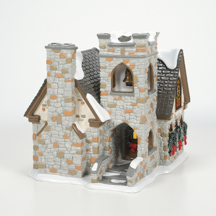 Department 56 Snow Village Woodlands Family Church Building 6007622