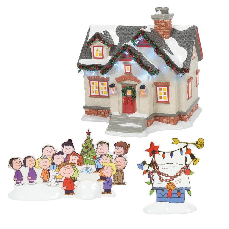 Department 56 Snow Village The Peanuts House Set 6007629