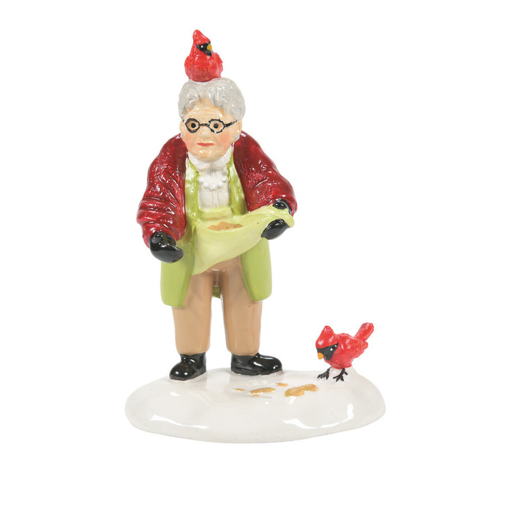 Department 56 Snow Village Her Fine Feathered Friend Figure 6007634
