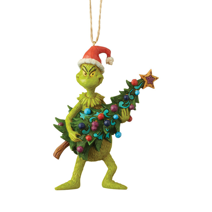 Department 56 Jim Shore Grinch and Tree Christmas Ornament 6004069