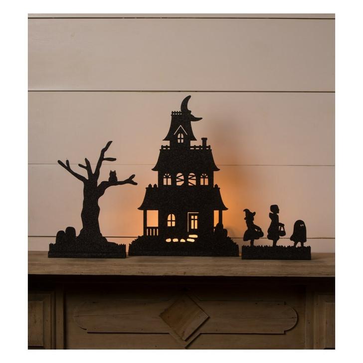 Bethany Lowe Halloween Village Scene Silhouette Dummy Board Set of 3 RL0842