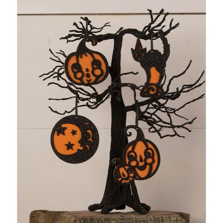 Bethany Lowe Set of 4 Jolly Halloween Ornaments JP0389