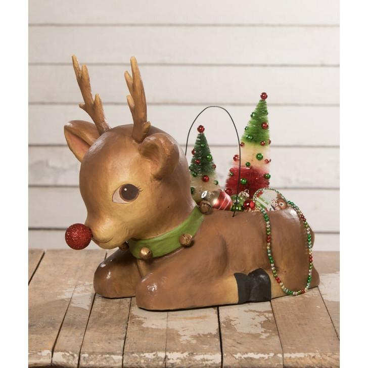 "Bethany Lowe 19"" Shining Bright Rudy Reindeer Christmas Figure TJ0180"