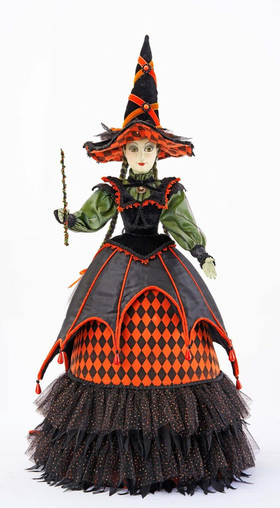 "Katherine's Collection 24"" Lucinda Jinx Doll Halloween Figure 28-128114"