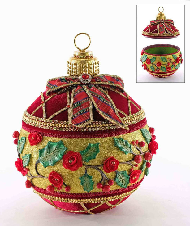 "Katherine's Collection 12.5"" Yuletide Greetings Ornament Box Christmas Decoration 28-928600"