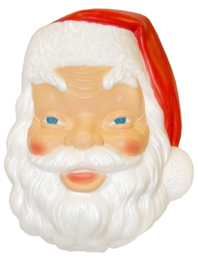 "17"" Santa Face Lighted Blow Mold Decoration C3410"