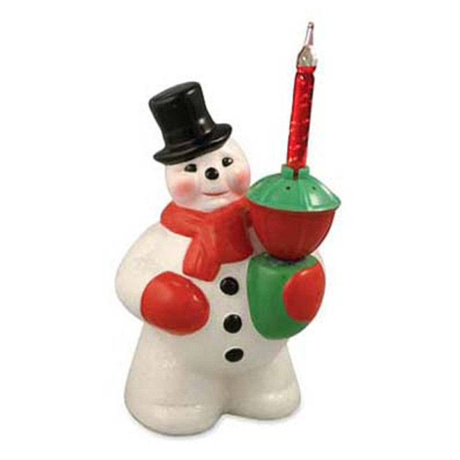 81031156e9e728 Bethany Lowe Snowman Figure with Bubble Light LG9866