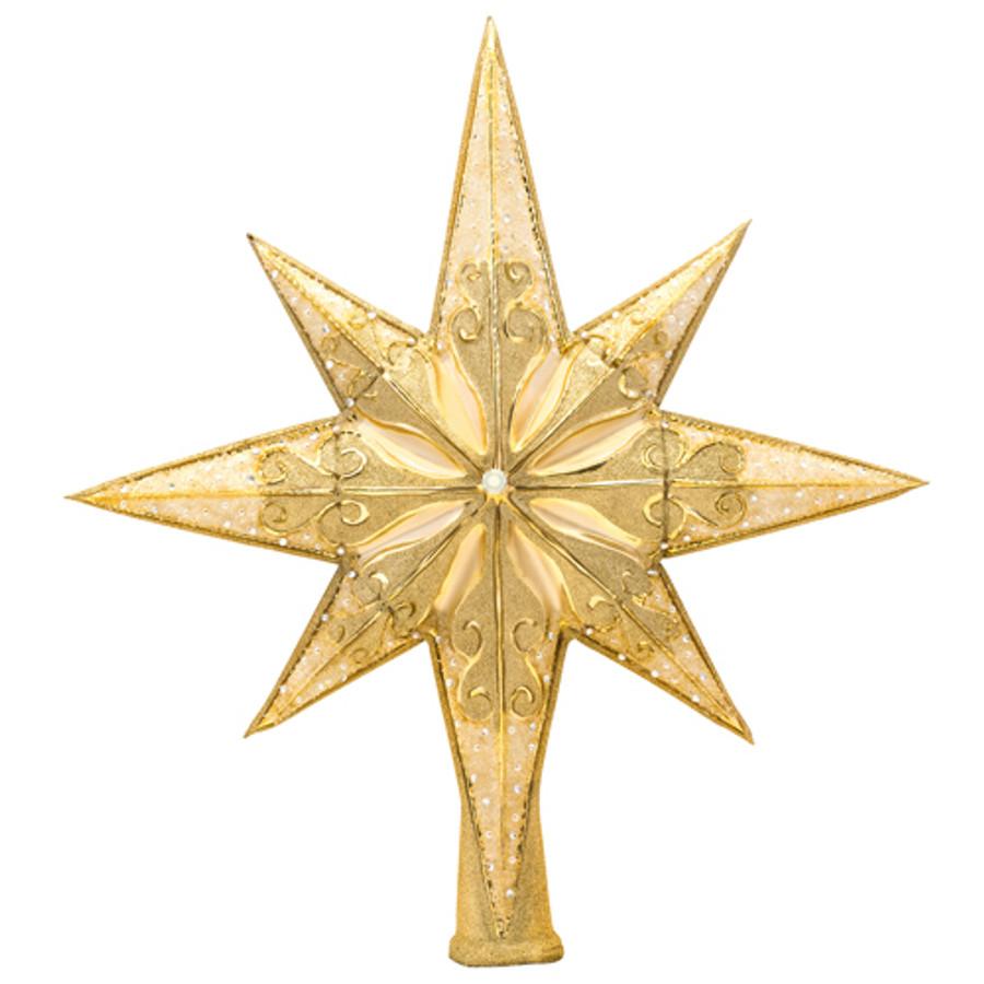 Christopher Radko Golden Radiance Glass Tree Topper 1017492 92ba47145a05