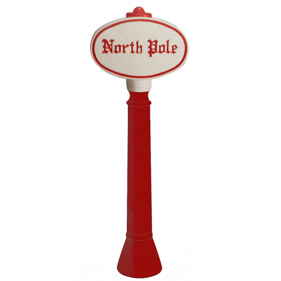 "45"" North Pole Sign Blow Mold Outdoor Christmas Decor 76940"