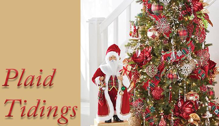 plaid tidings raz christmas tree theme raz christmas tree themes 2018
