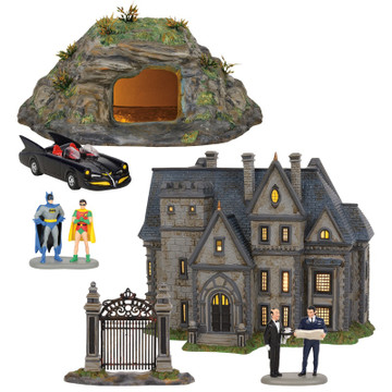 Department 56 Dc Comics Batman Village Full 3 Piece Set