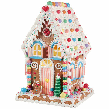 Raz 14 Quot Led Lighted Claydough Pastel Colored Gingerbread