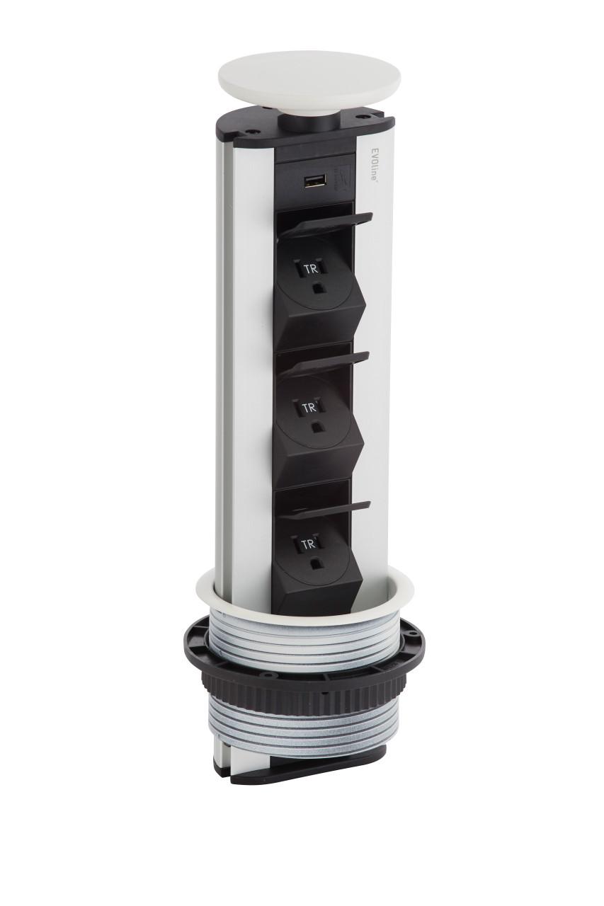 EVOline® Port 1130 USB Kitchen Pop Up Electrical Outlet