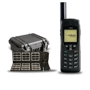 Iridium 9555 Satellite Phone with Hard case and Solar Panel