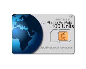 Inmarsat IsatPhone Prepaid 100 Units Sim Card-180 days Validity