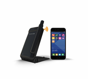 Thuraya Satsleeve Portable Hotspot works with almost any smart phone