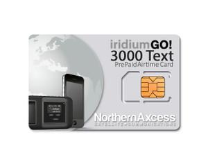 Iridium GO Prepaid Text 3000 Global Airtime Sim Card