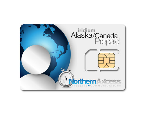 Iridium Prepaid  Northern Lights Sim Card for Alaska and Canada Only