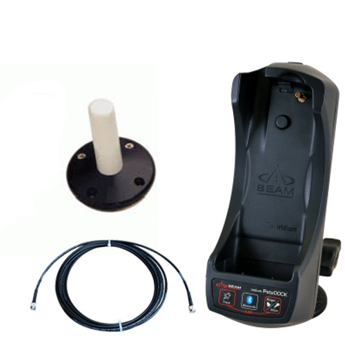 Beam 9555 Potsdock Cradle with Mast mount antenna and cable