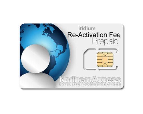 Iridium Sim Card Re-activation fee
