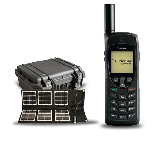 Iridium 9555 Satellite Phone with Hard case and Solar Panel