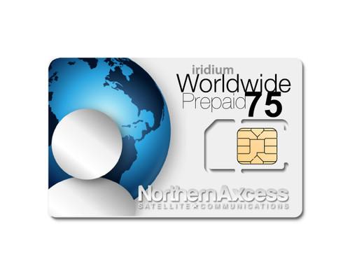 Iridium worldwide 75 Minutes Prepaid Airtime