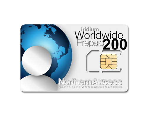 Worldwide Iridium 200 Minutes Prepaid Sim Card