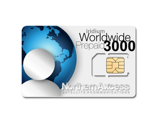 Iridium Worldwide 3000 Minutes Prepaid Sim Card