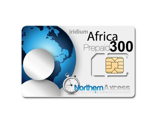 Iridium Africa 300  Minutes Prepaid Card