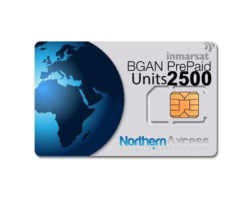 Inmarsat BGAN 2500 Units Prepaid Airtime Plan
