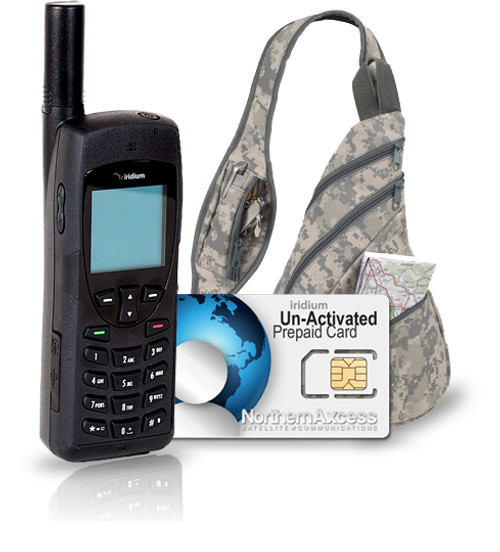 Iridium 9555 Satellite Phone with Un-Activated Card and Stylish Backpack