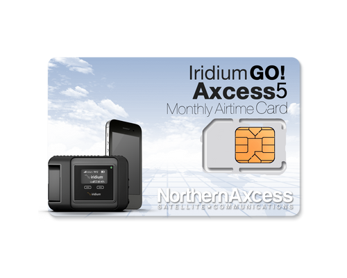 iridium GO Axcess 5 Monthly Voice and Data Airtime Service Plan-The Lowest Monthly FEE