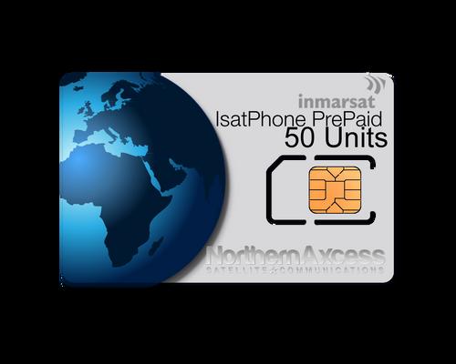 Inmarsat IsatPhone Prepaid 50 Units Sim Card-30 days Validity