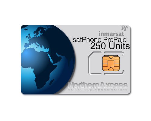 Inmarsat IsatPhone Prepaid 250 Units Sim Card-180 days Validity