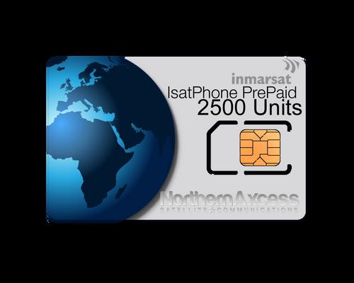 Inmarsat IsatPhone Prepaid 2500 Units Sim Card-365 days Validity