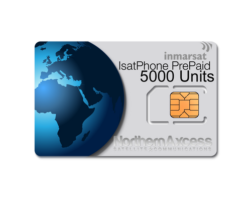 Inmarsat IsatPhone Prepaid 5000 Units Sim Card-365 days Validity