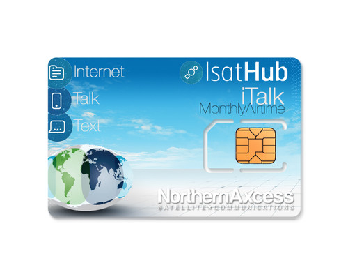 isathub iTalk 25 min monthly airtime plan by inmarsat and northernAxcess for the isathub satellite internet wifi hotspot terminals
