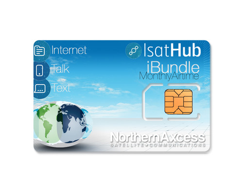 isathub ibundle 25 minute and 25 megabyte monthly airtime service for satellite internet wifi hotspot from inmarsat and NorthernAxcess
