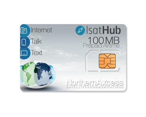 IsatHub Prepaid 100 MB Data/Voice Airtime Sim Card