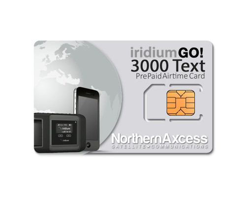 Iridium GO Prepaid Text 3000 Global Airtime Sim Card