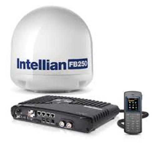 Intellian FB250 Fleet Broadband Satellite Internet Terminal with Base and headset