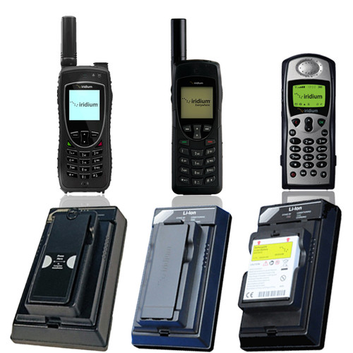 External Battery Charger for Iridium Satellite Phones