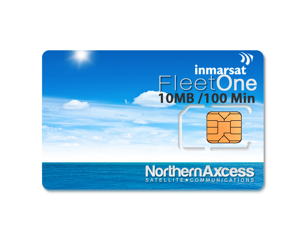 10Mb inmarsat fleet one - 10mb / 100 minutes sim card