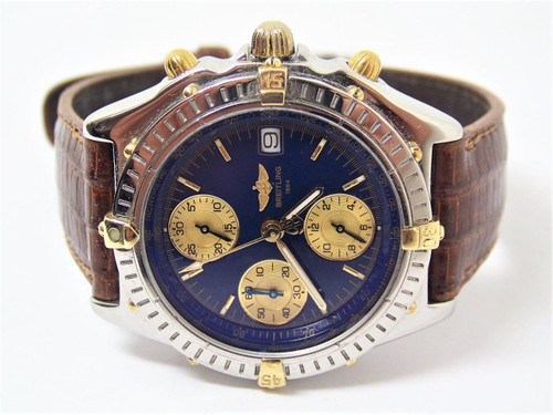 1768cafe9ed ... S/Steel & 18k BREITLING CHRONOMAT Chronograph Automatic Watch B13050.1*  EXLNT ...