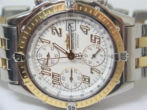 ff34d65203c ... S/Steel & 18k BREITLING CHRONOMAT Chronograph Automatic Watch D13050.1*  EXLNT ...